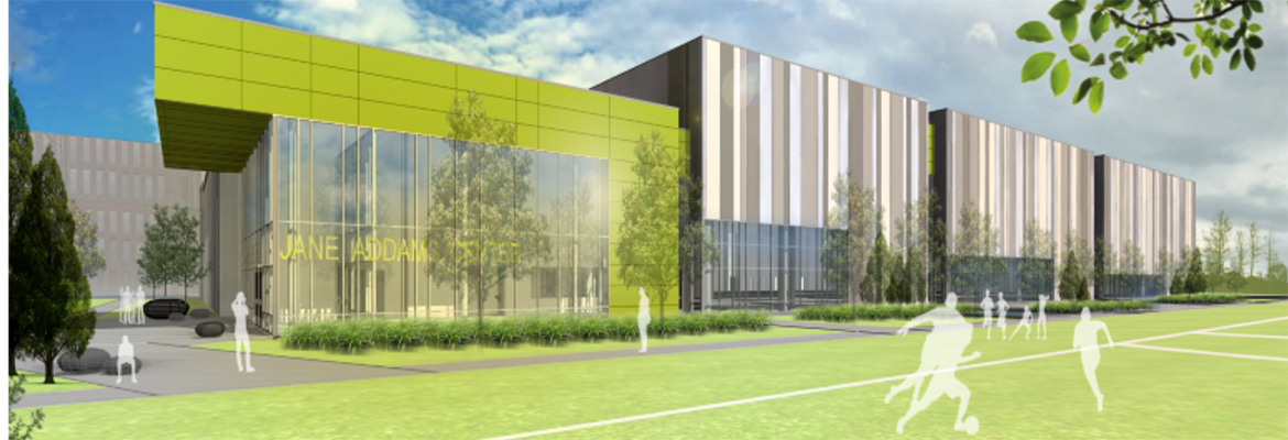 Rendering of the Exelon Recreation Center at Addams Park