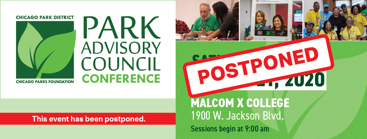 March 21 Park Advisory Council Conference POSTPONED!