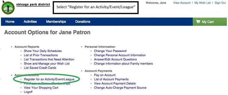Registration Instructions - Registering for a Program STEP 3