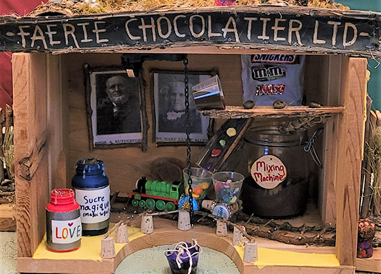 Faerie Chocolatier Ltd. Fairy House in Rutherford Sayre Natural Area