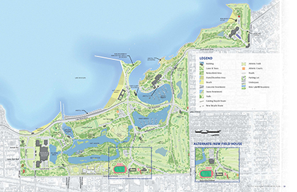 South Lakefront Framework Plan Map