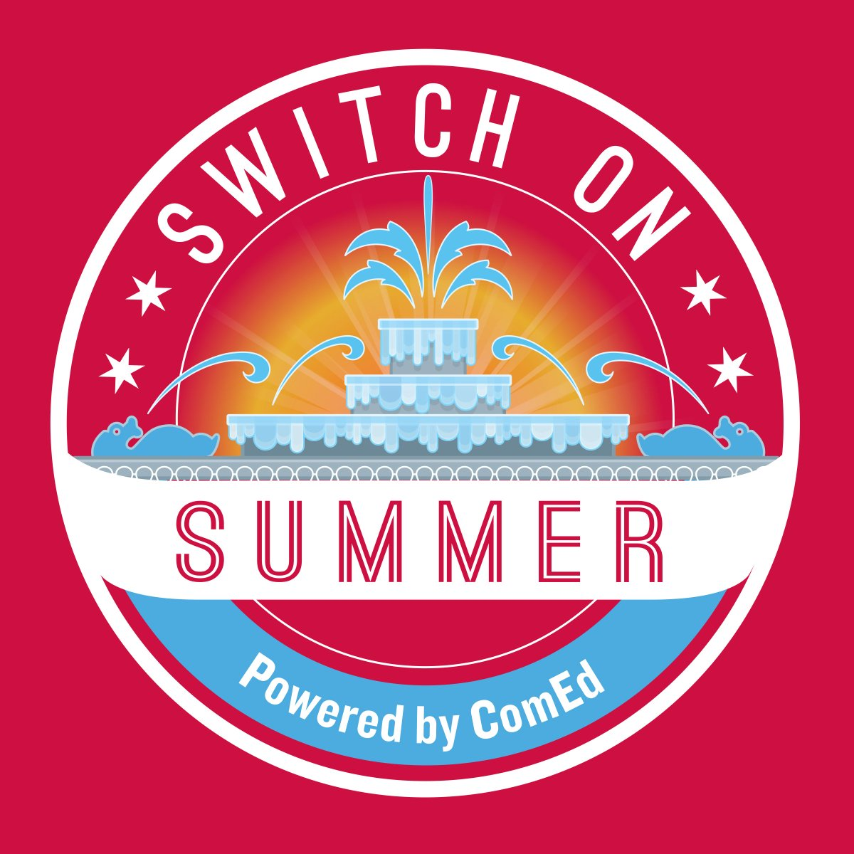 Switch On Summer at Buckingham Fountain Logo