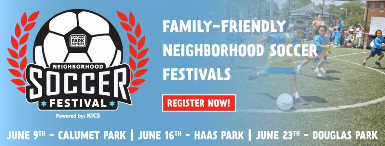 Join us for family-friendly Neighborhood Soccer Festivals this June.