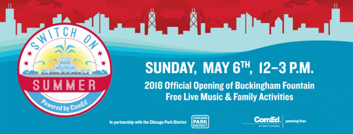 Switch on Summer - Official Opening of Buckingham Fountain, May 6th at 12 pm