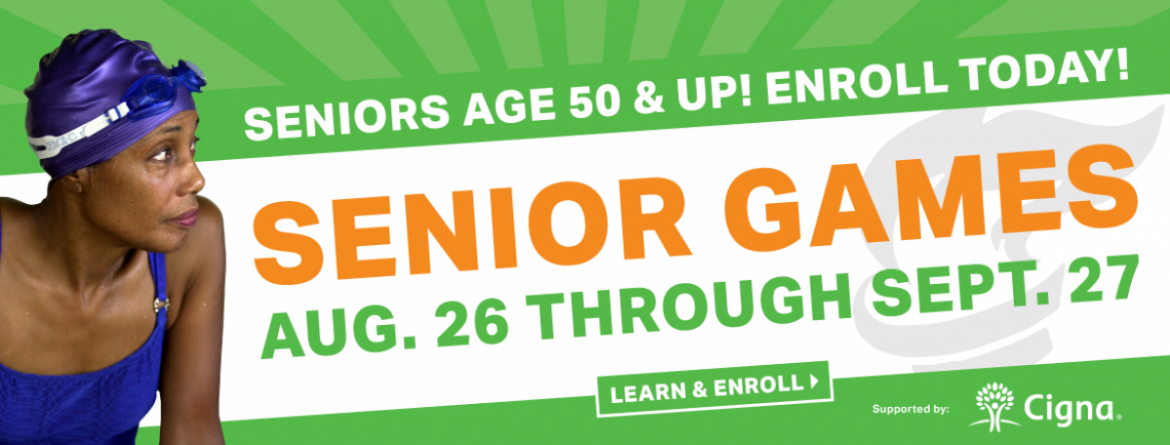 Seniors age 50 & up - join us for Senior Games August 26 - September 27, 2019.
