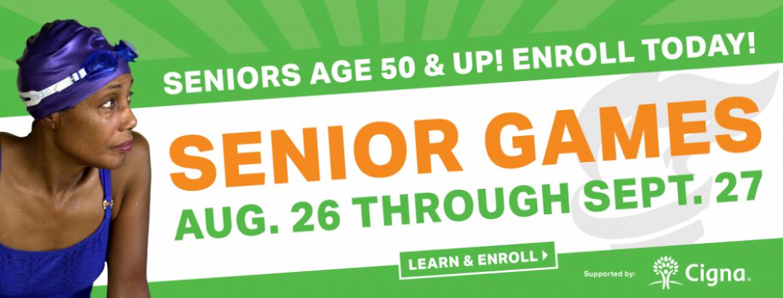 Seniors age 50 & up - join us for Senior Games August 26 - September 27, 2019.