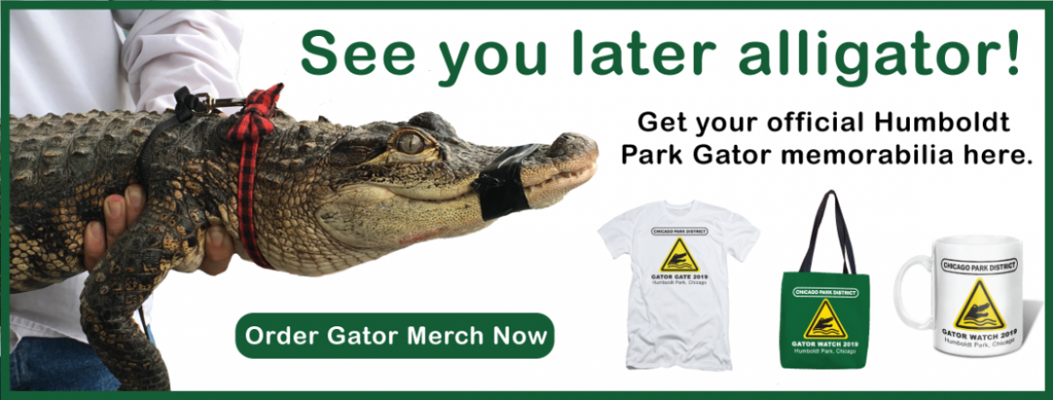 Get your Humboldt Park Gator merchandise here (t-shirts, totes & mugs).