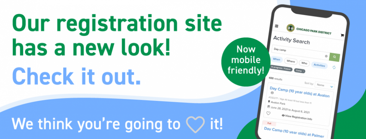 Our registration website has a new look, and it's now mobile friendly!  Check it out. Click here to learn more about the features.