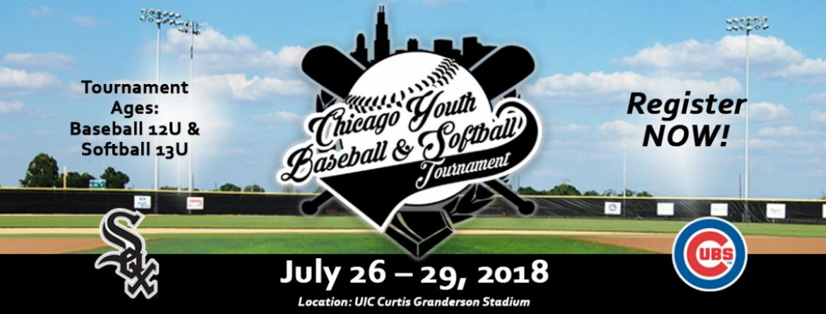Register your team for the Chicago Youth Baseball & Softball Tournament July 26-29.