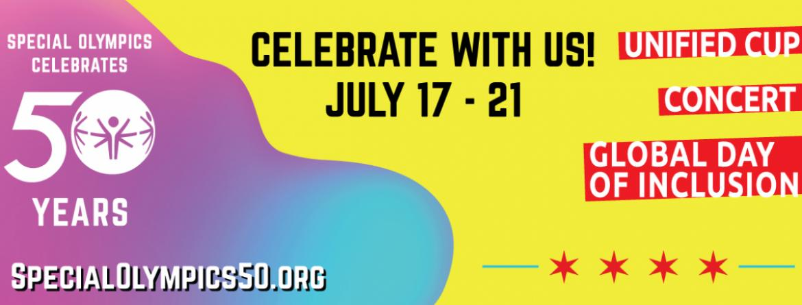 Special Olympics celebrates 50 years!  Celebrate with us July 17-21.