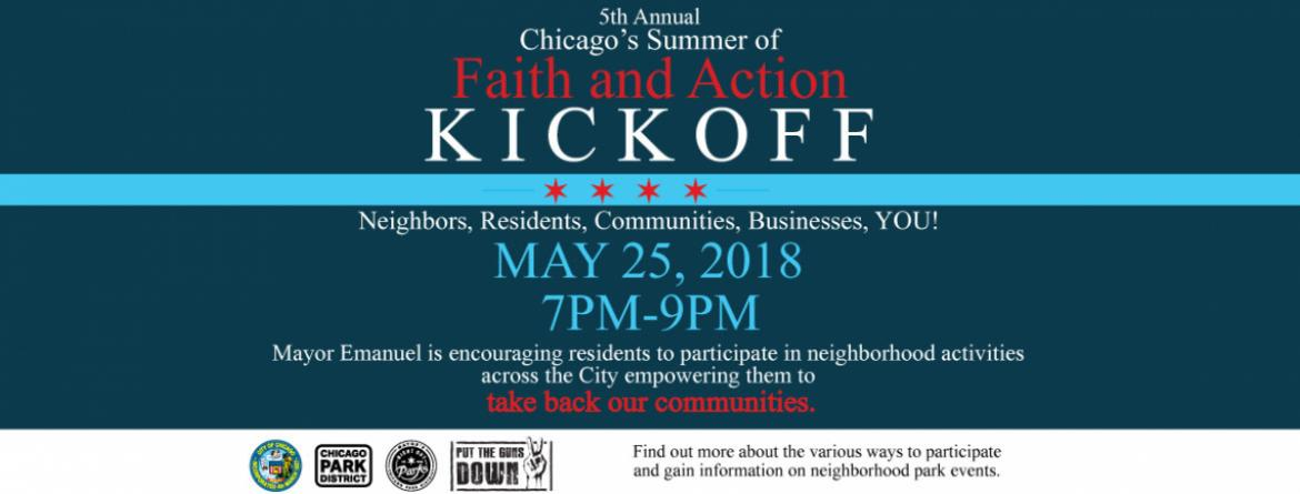 Chicago Park District Faith and Action Events on May 25, 2018