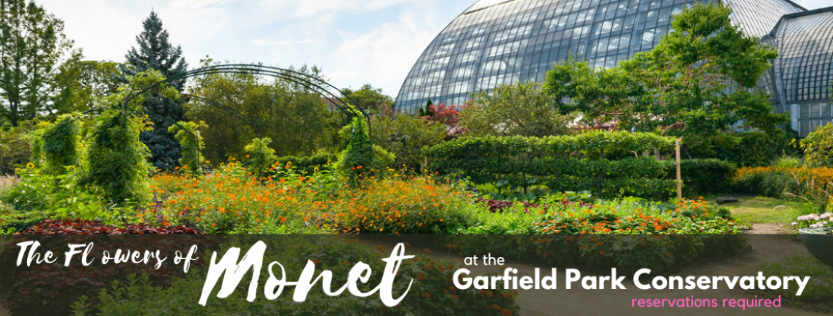 The Flowers of Monet in the Artist's Garden exhibit is going on now at the Garfield Park Conservatory.  Timed entry reservations are required.  Book now.