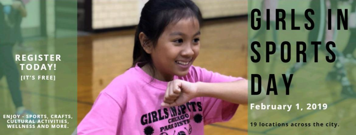 Join us for Girls in Sports Day, Friday, February 1 at various parks across the city.