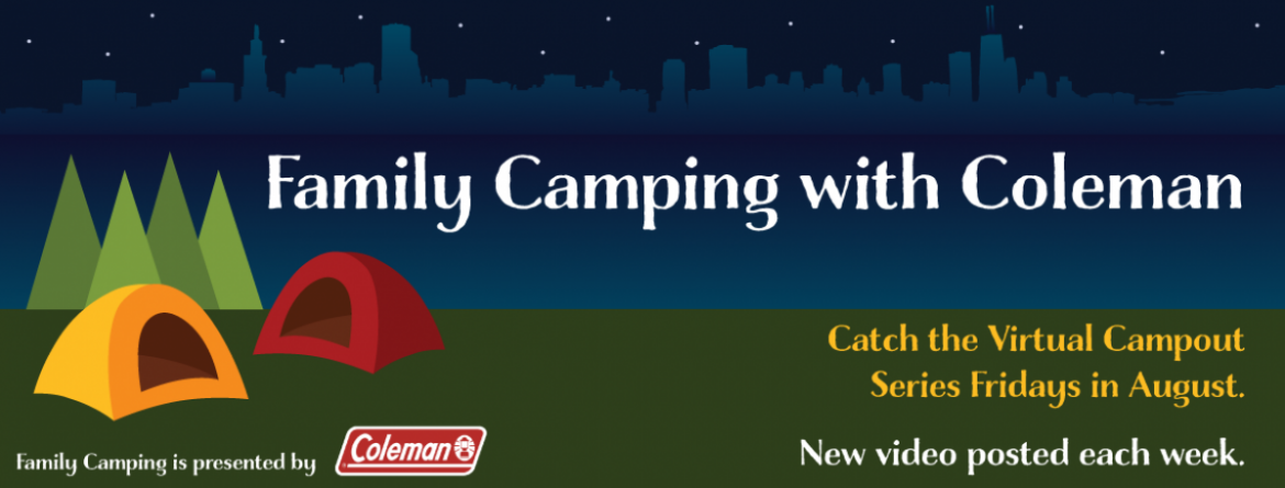 Join us each Friday in August for the Family Camping with Coleman series.  A new video will be posted each Friday.