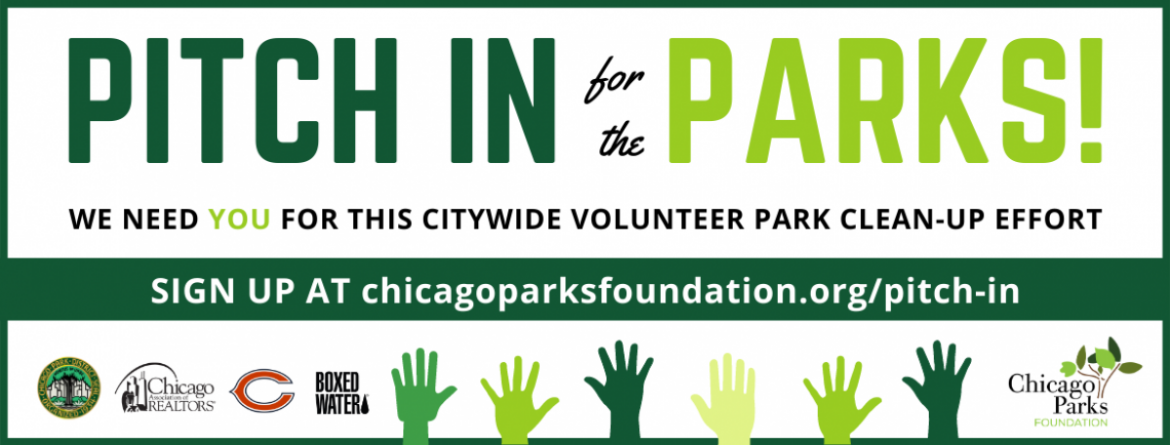 Pitch In for the Parks!  Sign up for the citywide volunteer park clean up.