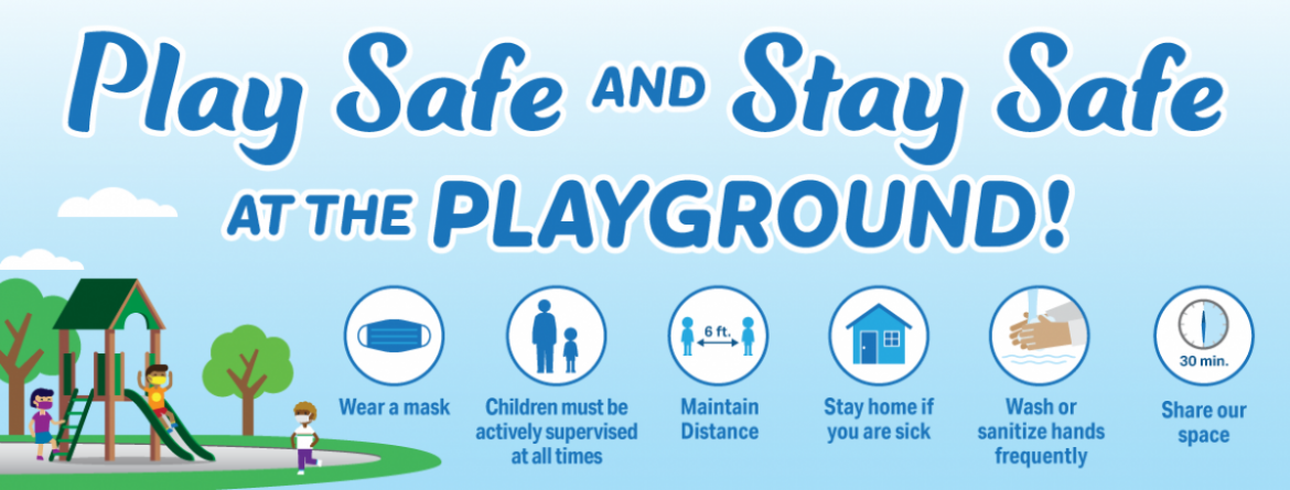 Play safe and stay safe at the playground.  Click here to learn more about the safety guidelines to be followed when visiting a playground.