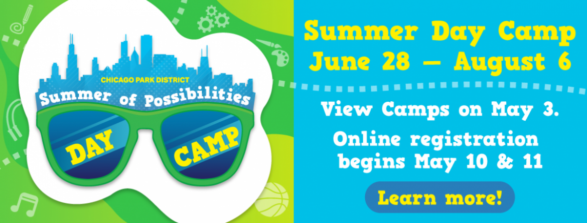 Day camp 2021 - explore the summer of possibilities.  View camps on May 3.  Online registration begins May 10 & 11.  Day camp runs June 28 - August 6.  Click here to learn more.
