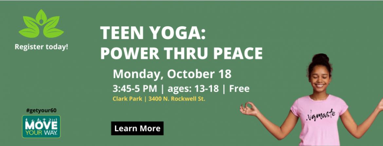 Teen Yoga- Power thru Peace