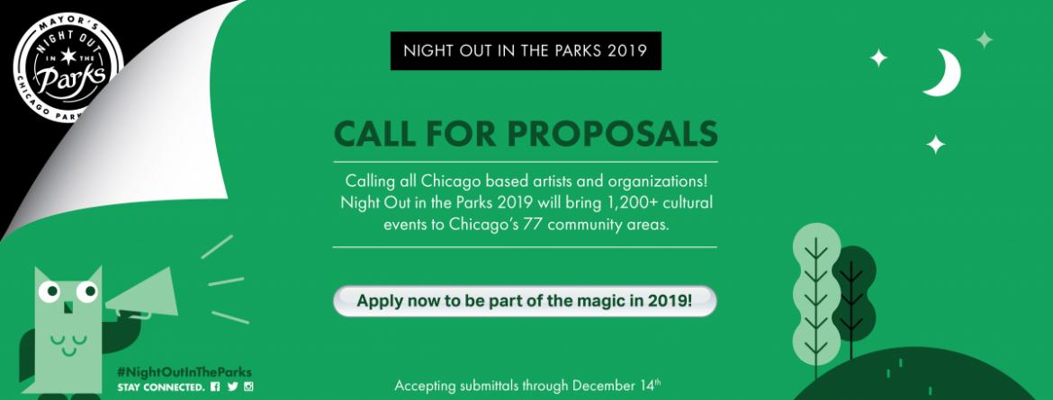 Apply now to be part of Night Out in the Parks 2019.  Accepting submittals through December 14.