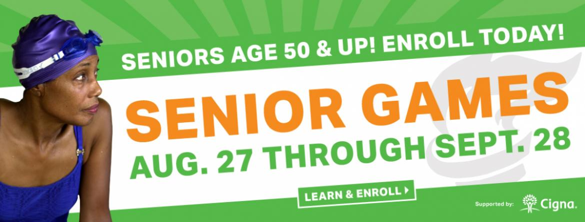 Seniors - join us for Senior Games August 27 - September 28, 2018.