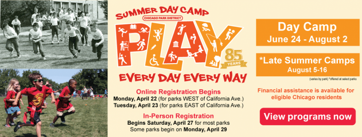 Day Camp registration begins April 22 & 23, 2019.