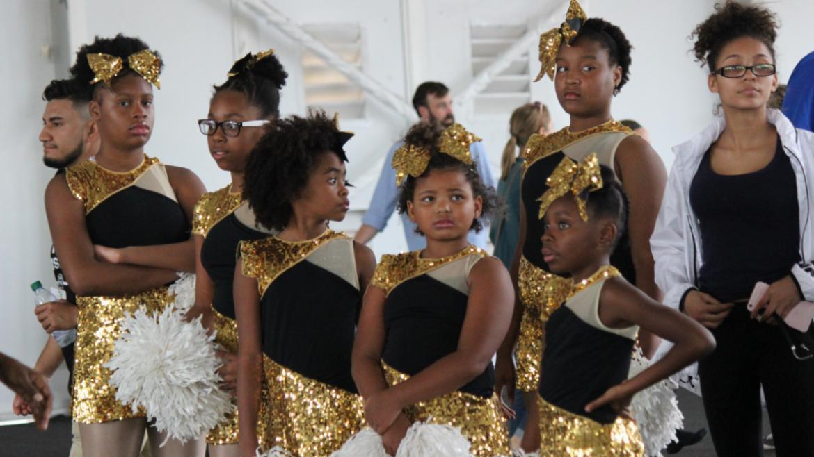 Young dancers waiting to perform at the Volunteer Appreciation Event.
