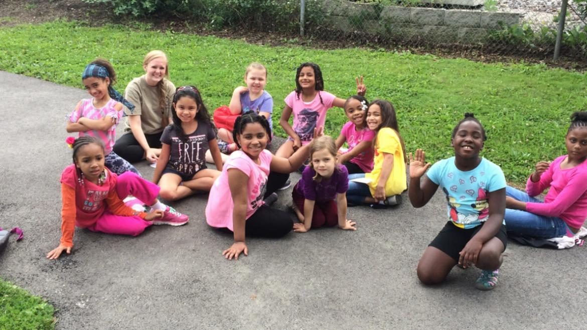Rutherford Sayre campers are getting to know each other on the 1st day of camp.