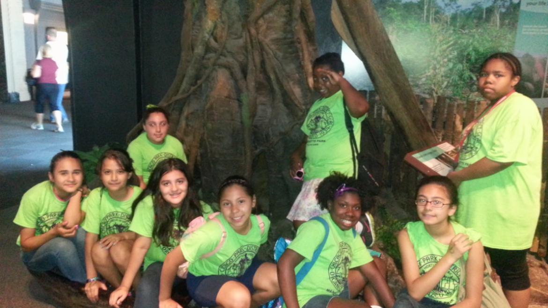 Marquette Park campers at the Shedd Aquarium