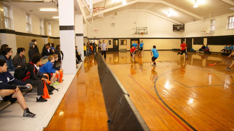 Citywide Floor Hockey Tournament at Columbus Park
