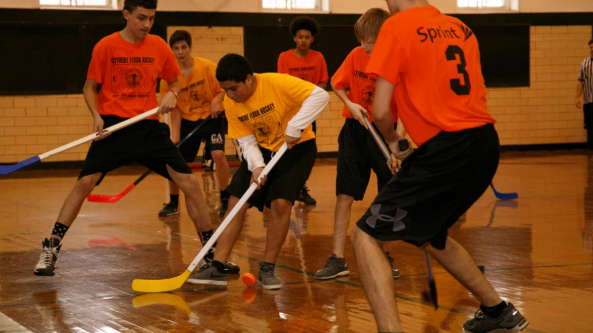 Citywide Floor Hockey Tournament at Columbus Park