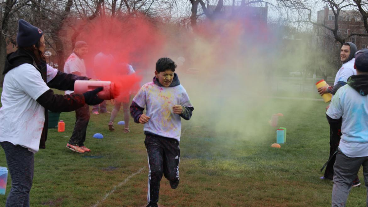 APRIL Our color run at Horner was a blast!
