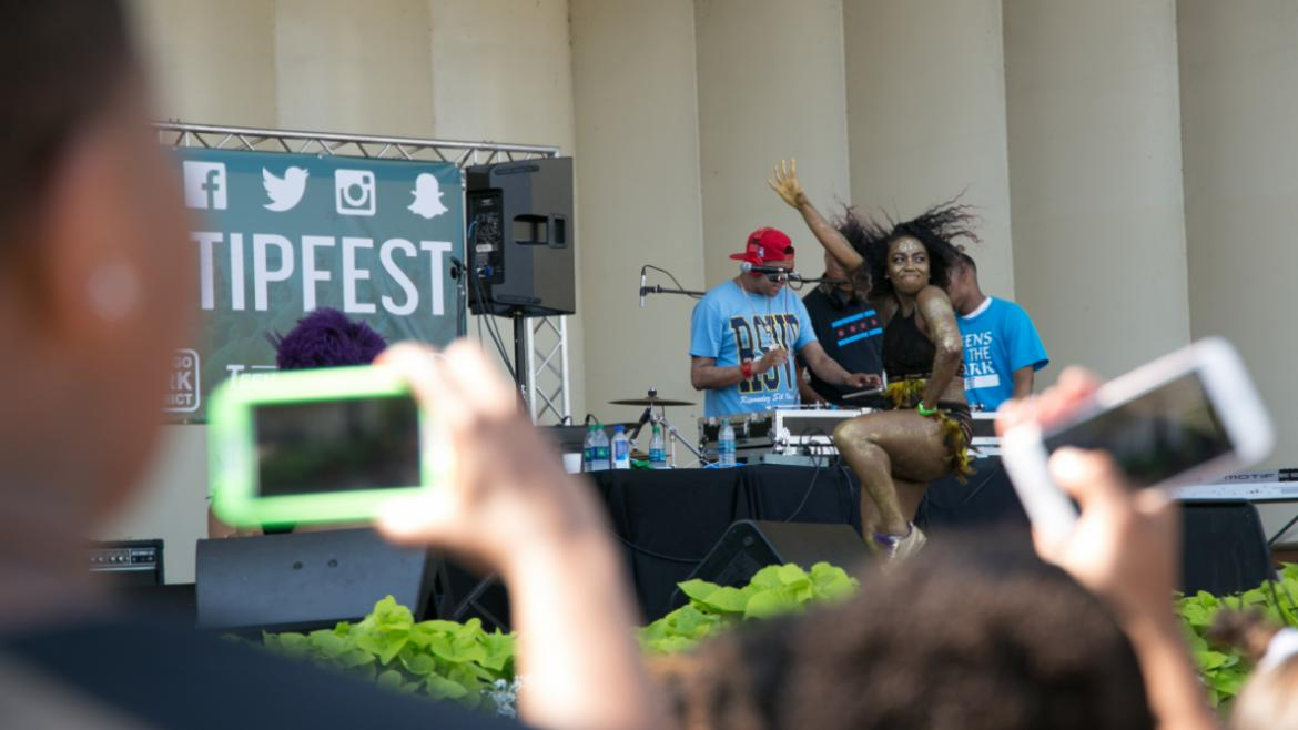 The 3rd Annual Teens in the Park (T.I.P.) Fest in Grant Park.