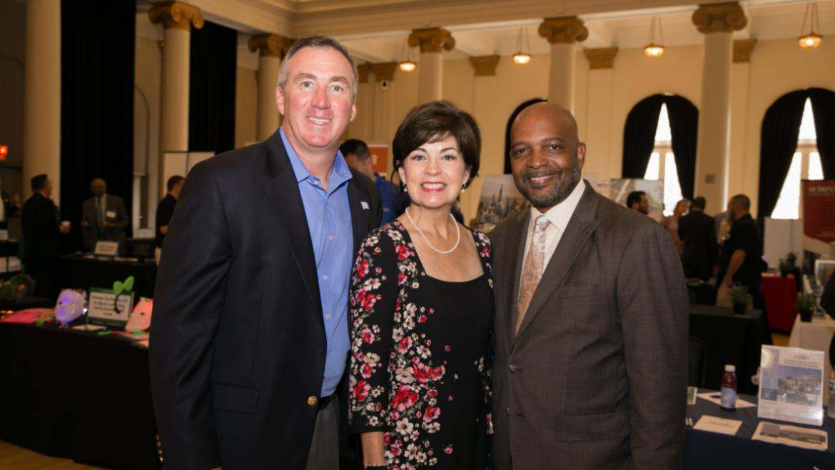 Superintendent & CEO, Michael Kelly, Theresa Mintle and Mark Reed.