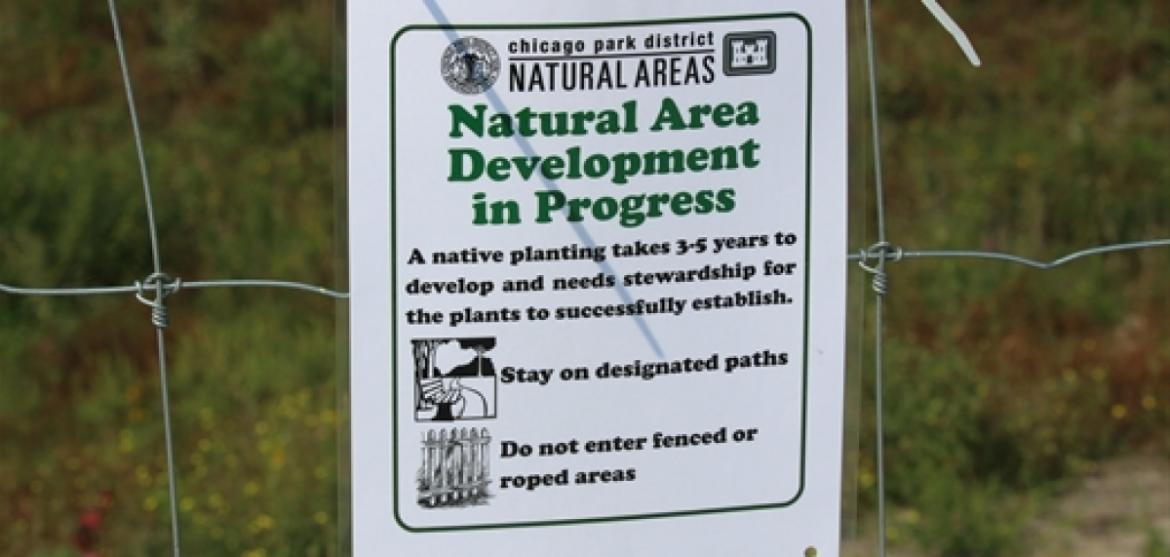 A reminder about the Northerly Island Natural Area visitor guidelines