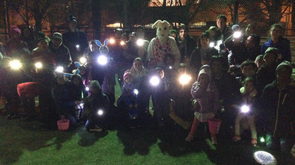 Egg Hunt in the Dark at Sheridan Park!