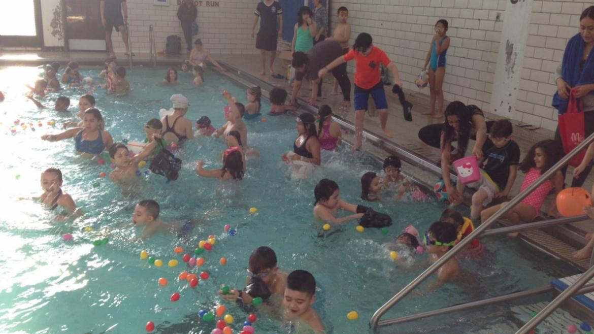 Egg Hunt in the Pool at Sheridan