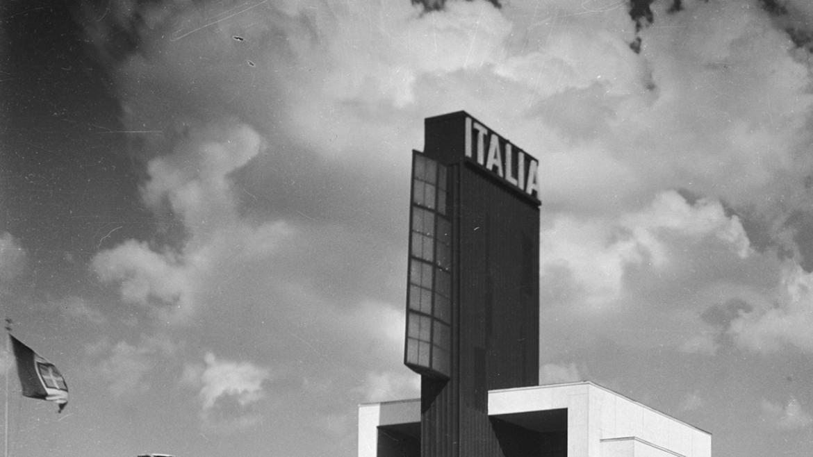 The Balbo Monument was installed in front of the Italian Pavilion at A Century of Progress