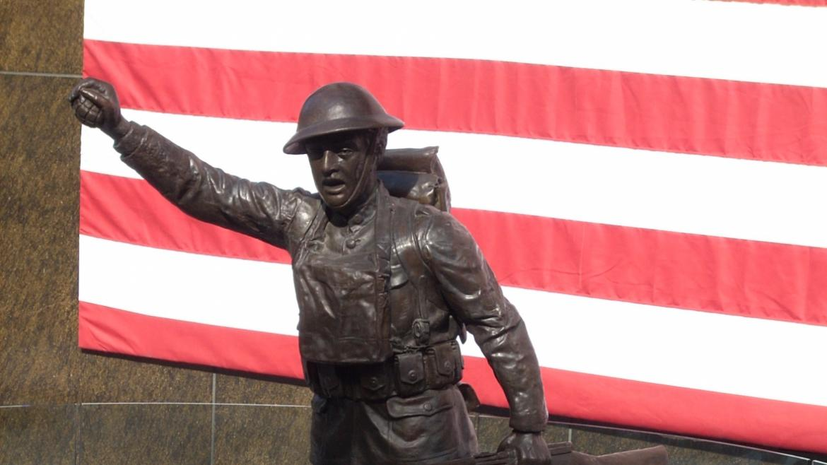 Historically, there were two copies of Viquesney's Spirit of the American Doughboy monuments.