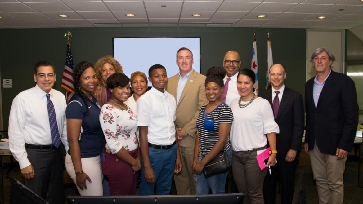 Chicago Park District teen club leaders, Board of Commissioners and Superintendent & CEO