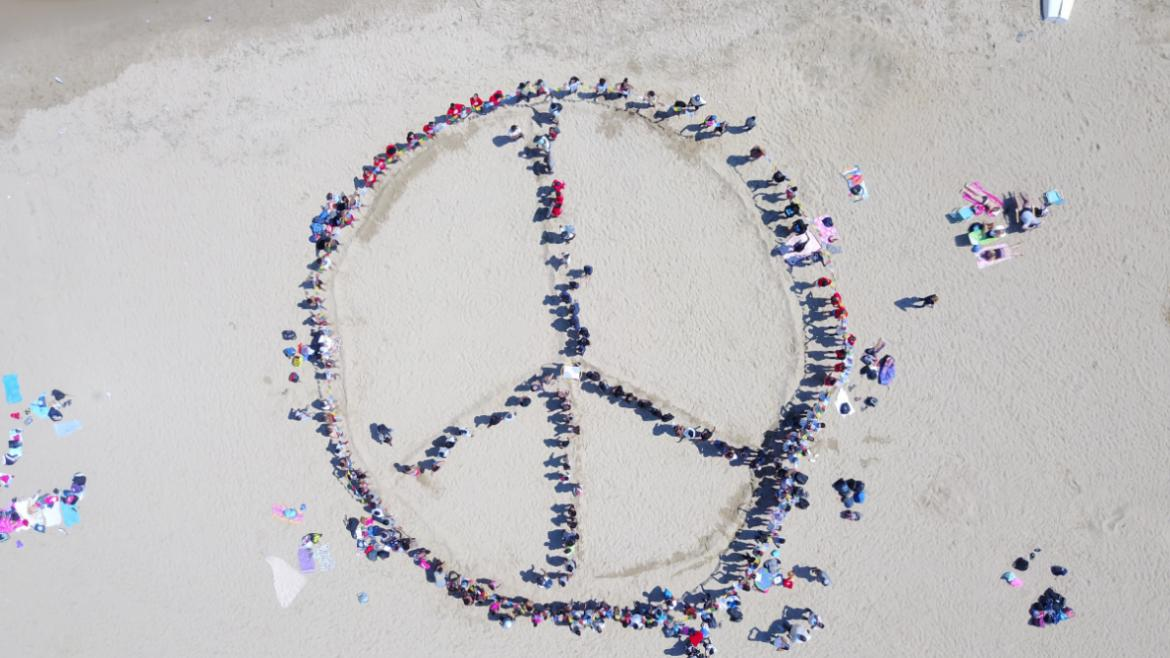 The peace symbol from above!