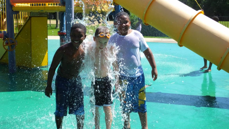 Enjoying the fun in the sun at Graver Park