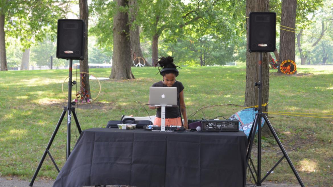 DJ Rae Chardonnay played tunes for the campers