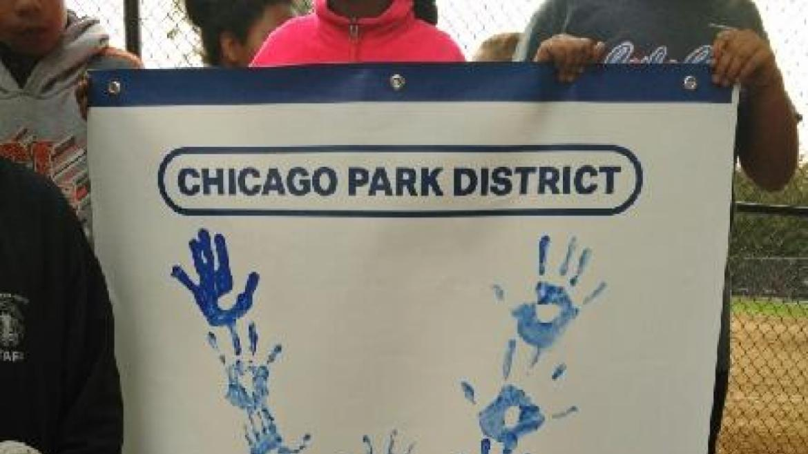 Davis Square Park shows their Cubs love