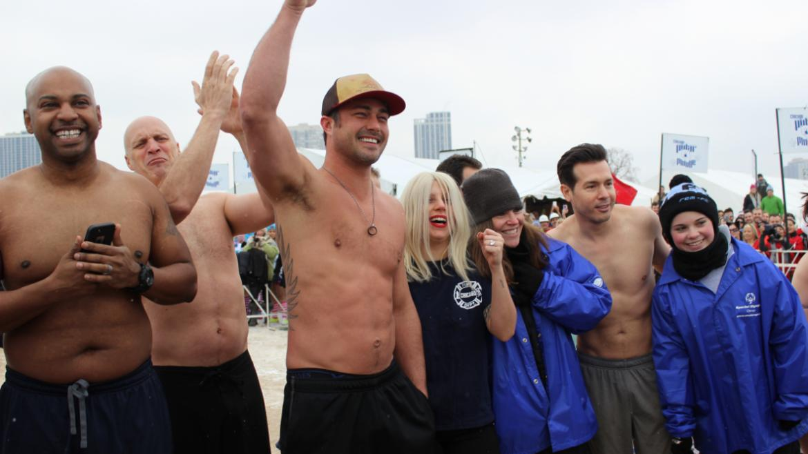 Eileen Hurley at the Polar Plunge!