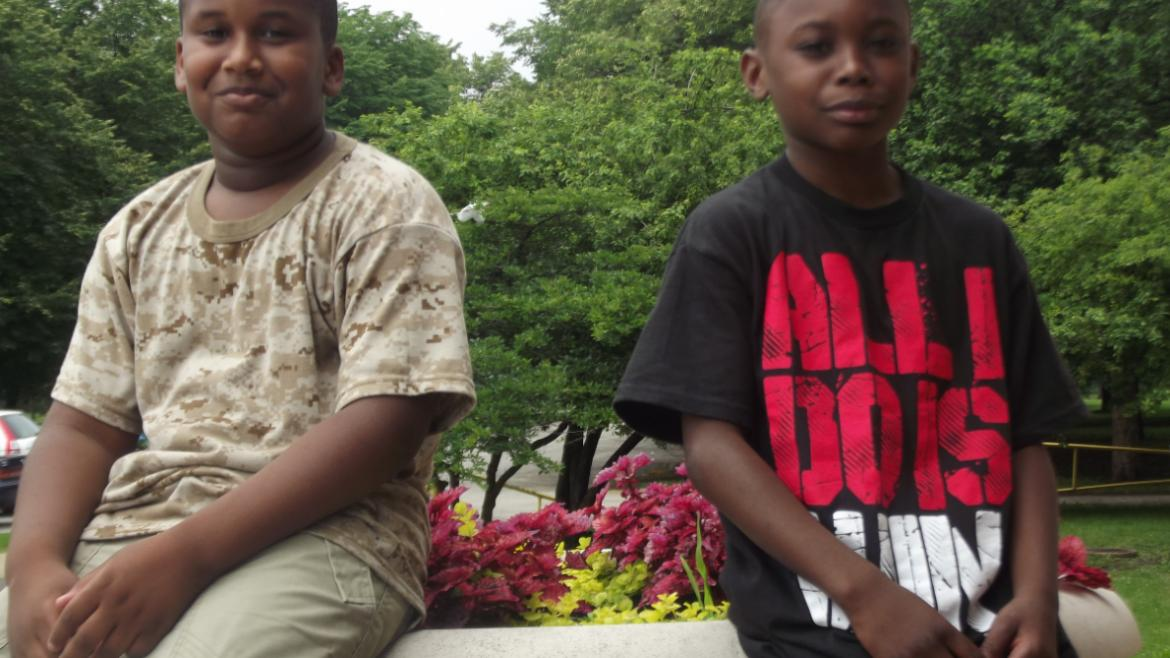 Campers are excited to meet new friends at Foster Park