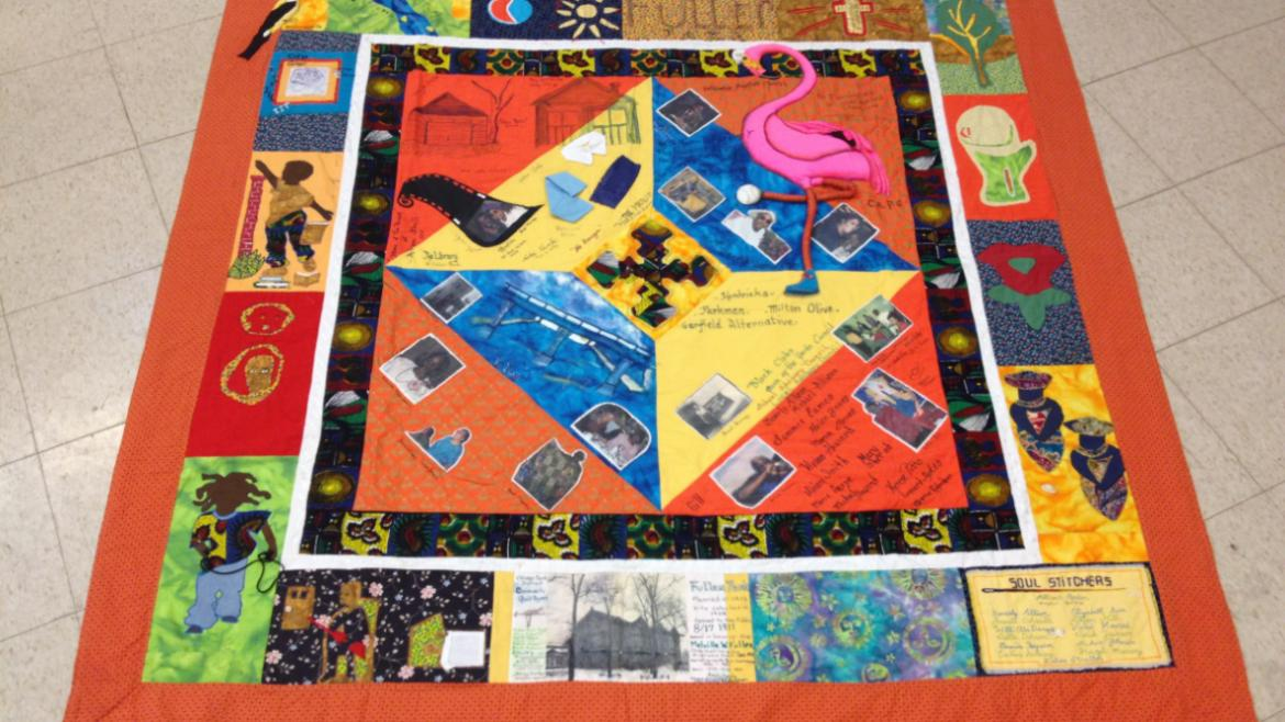 The Community Quilt was designed and created by Fuller Park art art instructor and Millicent Gordon
