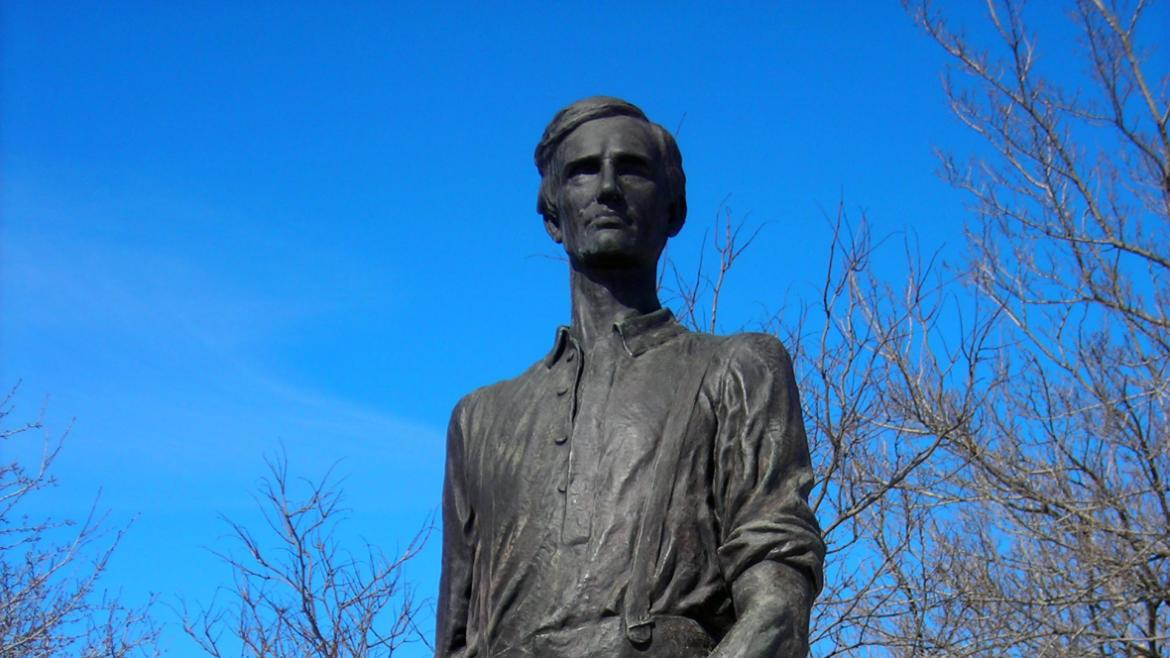 Lincoln the Rail-splitter is one of two monuments in Chicago's parks that depict Lincoln.