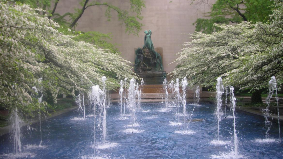 When landscape architect Dan Kiley redesigned the Art Institute's South Garden in the early 1960s.