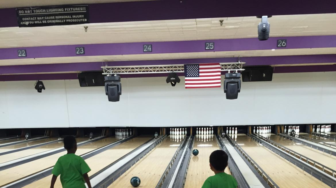Haines campers go bowling-bowling