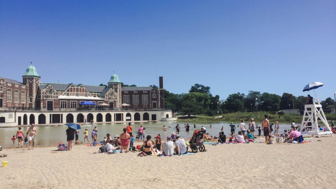 AUG- The Humboldt Park community celebrated the reopening of the park's inland beach